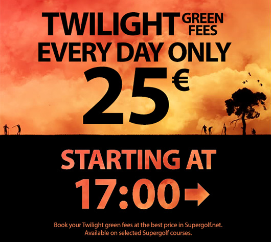 Book a Twilight green fee for 25 € every day starting at 17:00